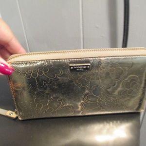 Kate Spade zip around wallet gold large